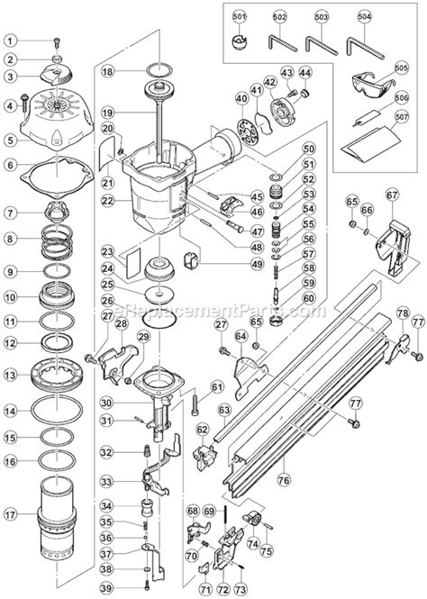 Hitachi Roofing Nailer Parts Diagram - 12.300 About Roof