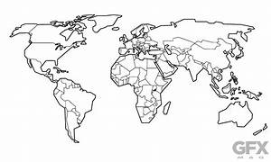 Free Vector Stylised World Map Outline Clip Art | Free ...