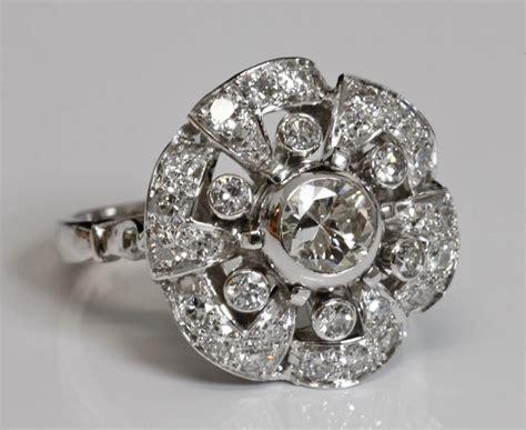 bague deco ancienne bagues anciennes d 233 co bague ancienne d 233 co 171 marguerite 187 en diamants