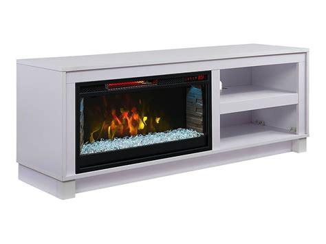 cameron electric fireplace tv stand  white cs mm