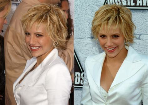 brittany murphys short messy hairstyle