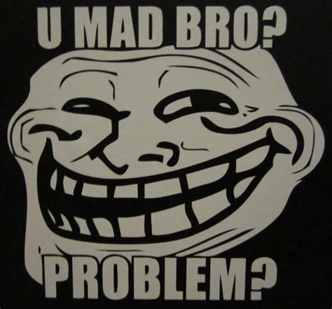 U Mad Meme Face - items similar to troll face u mad bro vinyl decal sticker on etsy