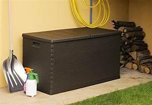 Kissenbox Wasserdicht Rattan : xl toomax kissenbox z162 braun in polyrattan optik 420 liter inhalt absolut wasserdicht und ~ Markanthonyermac.com Haus und Dekorationen