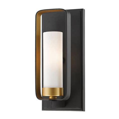 filament design 1 light bronze gold wall sconce hd