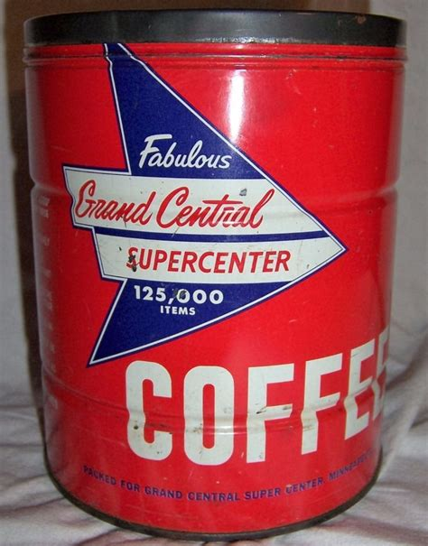 Now located in kingsland, tx. Grand Central Supercenter Coffee | Coffee tin, Vintage coffee, Coffee franchise