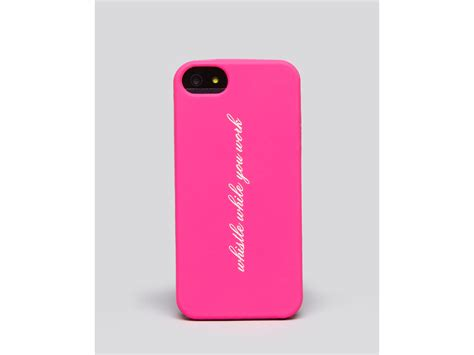 iphone 5 kate spade kate spade iphone 5 whistle in pink lyst