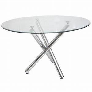 Table ronde en verre dining room pinterest metals for Table ronde verre