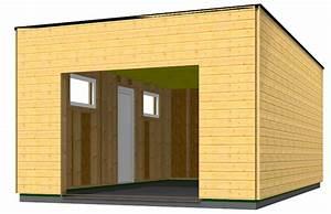 Garage En Bois Toit Plat : garage en bois type ossature bois en toit plat id es ~ Dailycaller-alerts.com Idées de Décoration