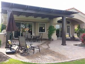 Lattice patio covers indio palm desert la quinta 92203 for Brown aluminum patio covers
