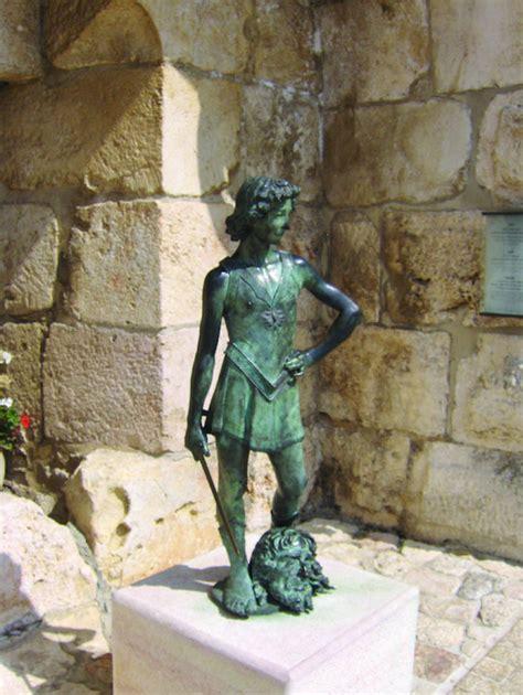 statue  david  goliath saint marys press