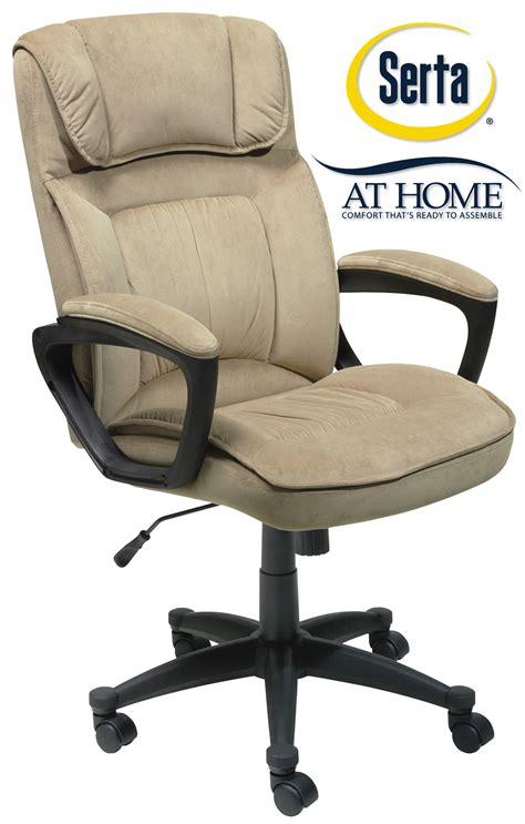 serta microfiber executive office chair