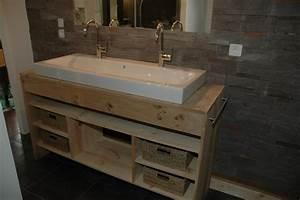 fixer meuble salle de bain suspendu sur placo 3 double With meuble vasque salle de bain brossette