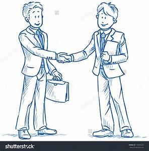 Business People Two Men Smiling Shaking Stock Vector ...
