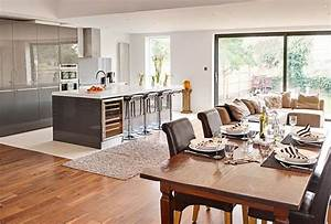 getting creative the open plan kitchen dinner buyers With open plan kitchen and dining room designs