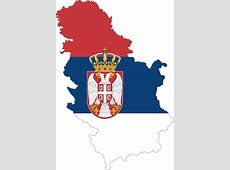 Clipart Serbia Map Flag With Stroke Fixed