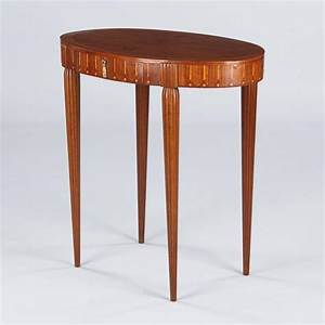 French, Art, Deco, Oval, Side, Table, In, The, Style, Of, Ruhlman, At, 1stdibs