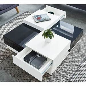Table Basse Carrée Design : miami table basse carr e style contemporain laqu e le coin store ~ Teatrodelosmanantiales.com Idées de Décoration