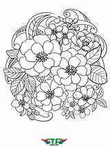 Coloring Flowers Flower Printable Tsgos Spring Colouring Halloween January sketch template