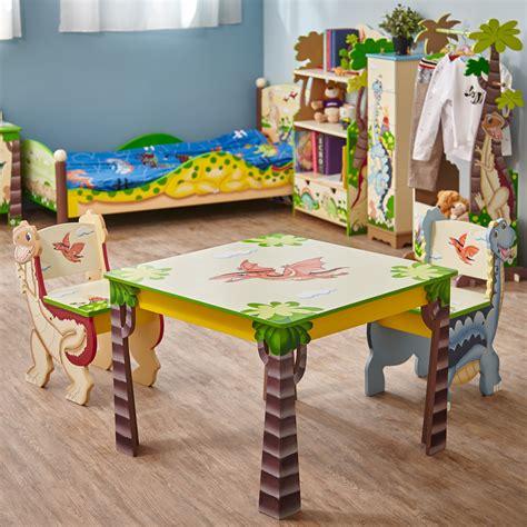 dinosaur table and chair set fantasy fields dinosaur kingdom kids 3 piece table chair