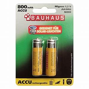 Batterien Für Solarlampen : bauhaus pilas recargables mignon aa n quel hidruro ~ A.2002-acura-tl-radio.info Haus und Dekorationen