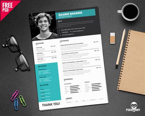 Resume Psd Simple Resume Design Free Psd Psddaddy