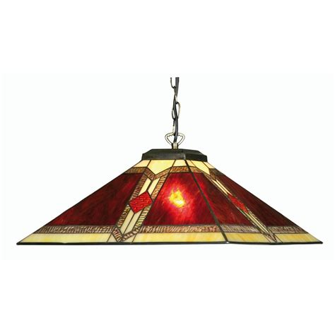 oaks lighting aztec stained glass pendant light