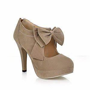 Schuhe Zu Klein : lath pin vintage damen schuhe pumps high heels beige brautschuhe mit schleife stilettosabsatz ~ Orissabook.com Haus und Dekorationen