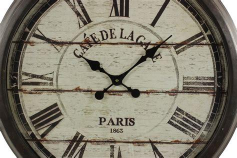 meuble cuisine vaisselier grande horloge ancienne murale cafe de la gare 70cm