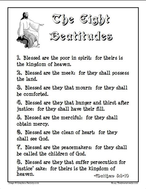 the beatitudes for preschoolers eight beatitudes handout poster that resource site 470