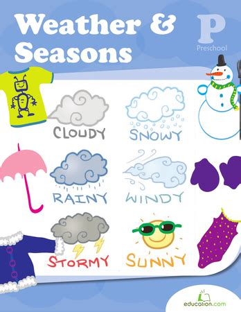 weather seasons workbook educationcom
