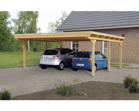Doppelcarport Skan Holz Emsland 613x604 Cm Mit Aluminium
