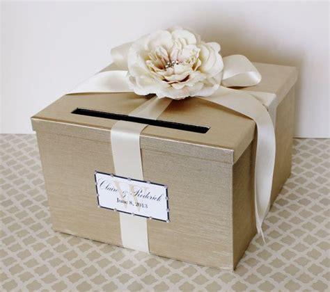 glamorous gold box for the cards wedding diywedding