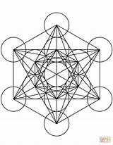 Cube Coloring Mandala Metatron Geometric Geometry Sacred Mandalas Symbols Printable Shapes Supercoloring Designlooter Drukuj sketch template