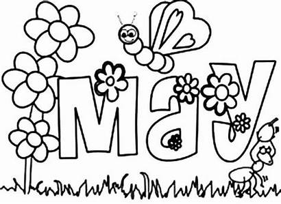 Coloring Pages Flower Printable Garden Daisy Month
