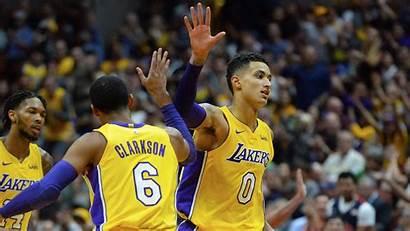 Lakers Kuzma Kyle Jordan Clarkson Former Angeles
