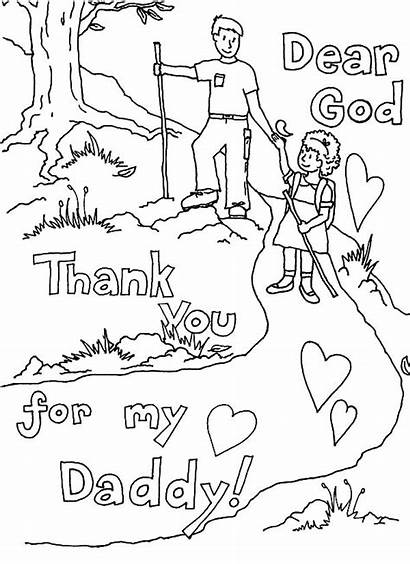 Coloring God Thank Pages Dad Give Thanks