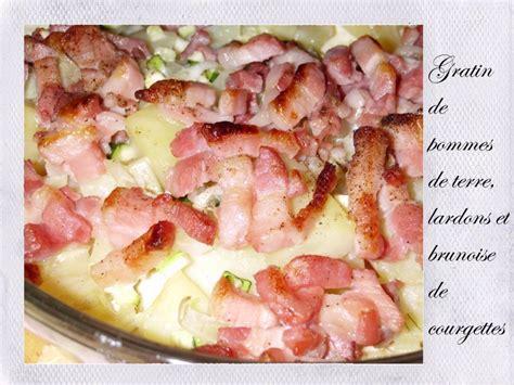 gratin de pommes de terre lardons et brunoise de courgettes