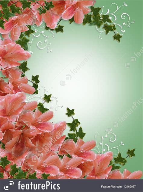 cards  posters wedding invitation azalea floral