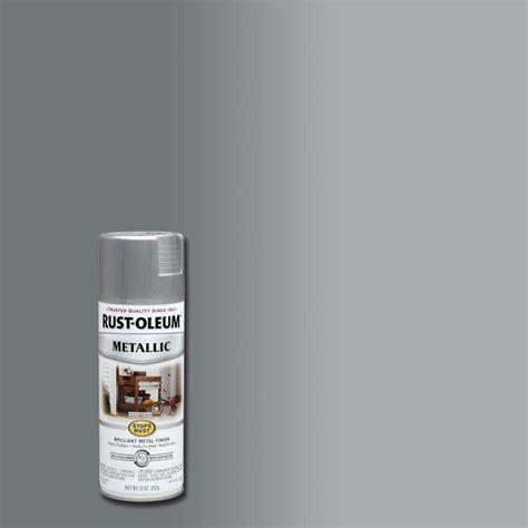 rust oleum stops rust 11 oz silver protective enamel metallic spray paint 7271830 the home depot