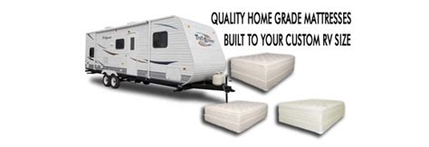 rv camper  travel trailer mattress sizes