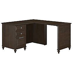 Office Depot Kona by Kathy Ireland Office Volcano Dusk Single Pedestal L Desk