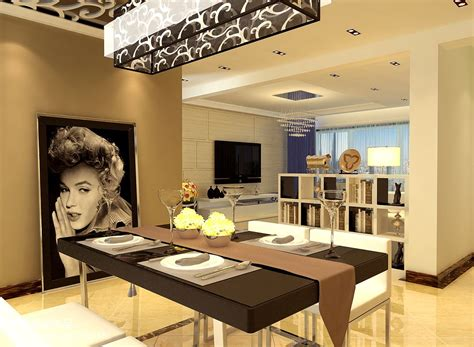 Modern Living And Dining Room Design