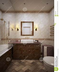 Bathroom In Provence Style Stock Illustration - Image