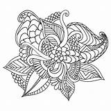 Coloring Adult Frame Ethnic Floral Doodle Drawn Ornamental Patterned Artistic Royalty Tattoo Vector sketch template
