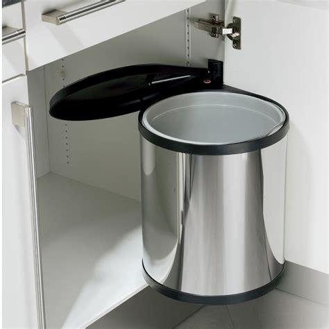poubelle cuisine encastrable poubelle encastrable compact box 15l inox