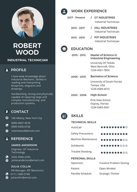 resume template   word excel  psd format