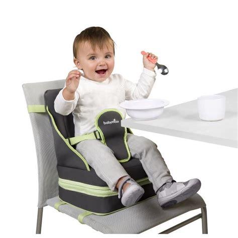 rehausseur de chaise babymoov babymoov rehausseur up go gris et vert anis achat
