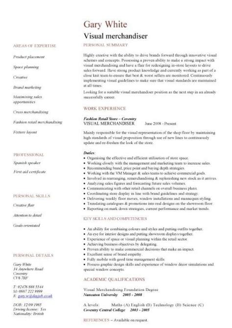 visual merchandising resume the best resume