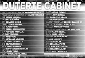 rody finalizes cabinet headlines philippine