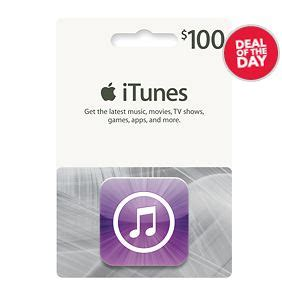 best buy deal of the day 100 itunes gift card for 80 free shipping southern savers